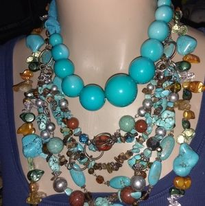 💋💕MAGNIFICENT!/ 7LOT MIXED TORQUOISE JEWLERY ♥️